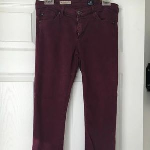 AG maroon skinny jean
